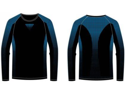 relax-r2-dots-chlapecke-funkcni-triko-cerno-modre