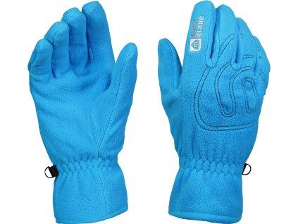nordblanc gerry fleecove rukavice svetle modre