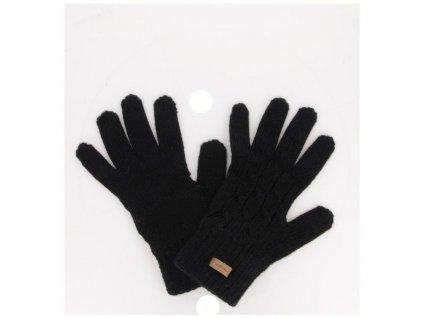 relax rolly damske pletene rukavice cerne
