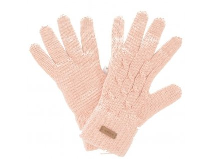 relax rolly damske pletene rukavice svetle ruzove