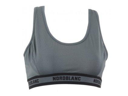 nordblanc balance damska sportovni podprsenka seda