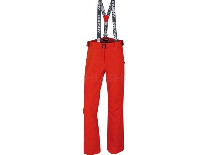 husky-galti-damske-lyzarske-kalhoty-cervene