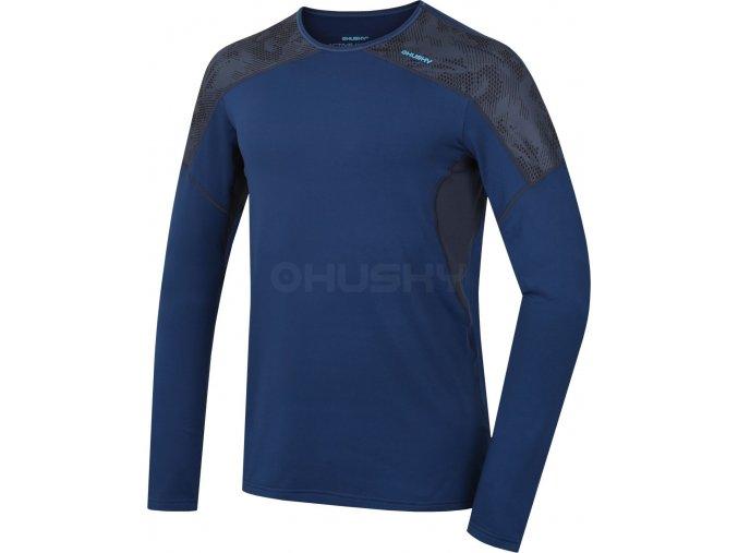 Husky Active winter long pánské termo tričko tm.modré