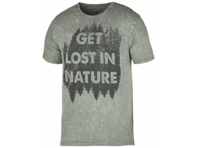 Husky Bronson pánské tričko světle šedozelené