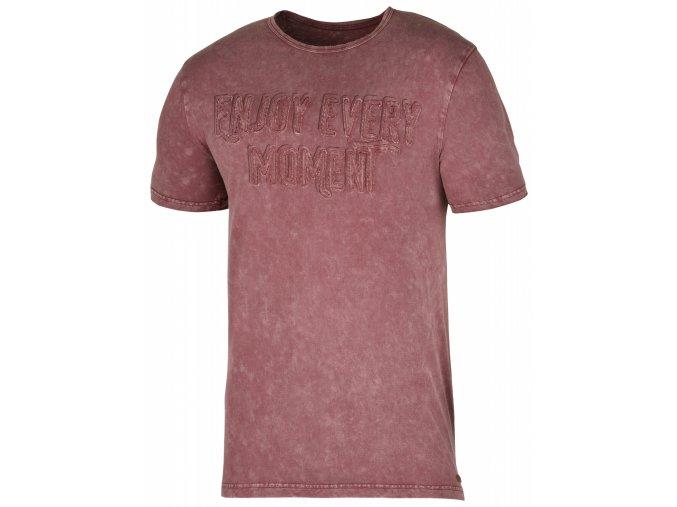 Husky Bueno pánské tričko tmavě cihlové