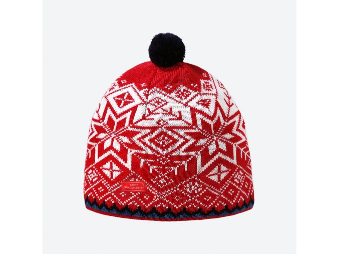 Kama AW 41-104 pletená merino čepice červená