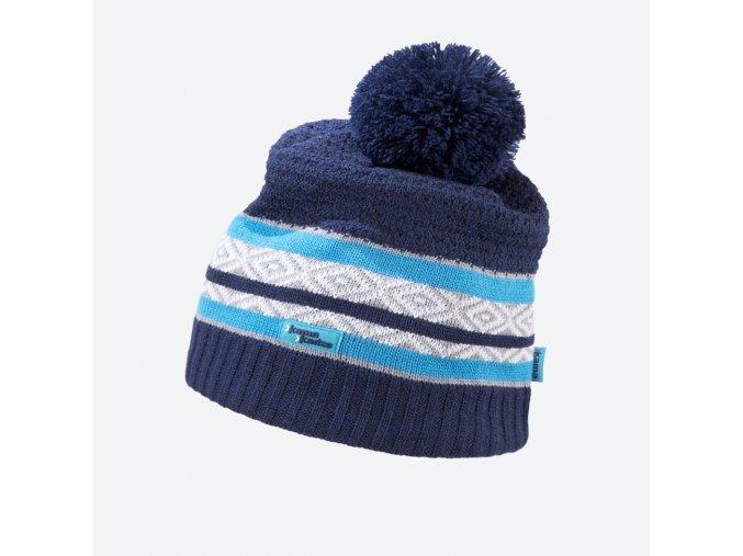 Kama Kamakadze KW 06-108 pletená merino čepice tmavě modrá