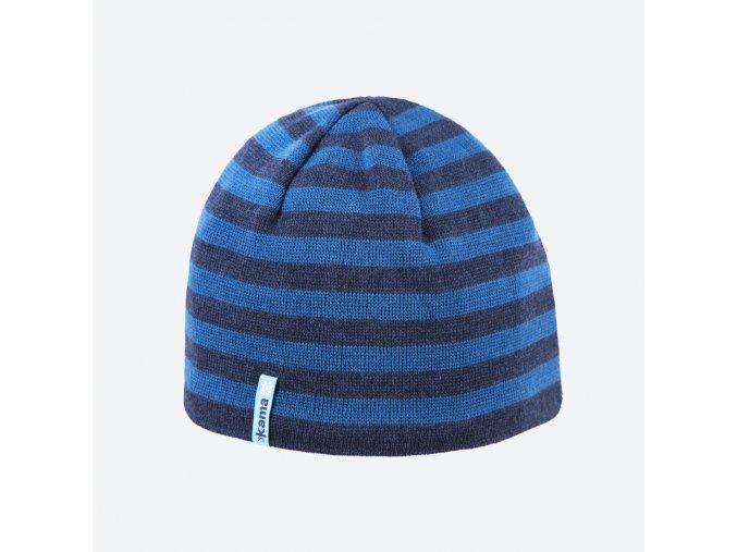 kama a 122 108 pletena merino cepice tmave modra