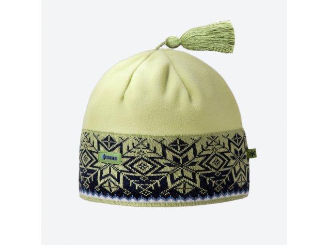 Kama A 52-105 pletená merino čepice zelená