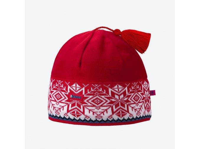 Kama A 52-104 pletená merino čepice červená
