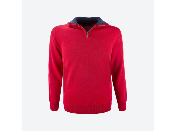 kama 4105 104 merino svetr cerveny