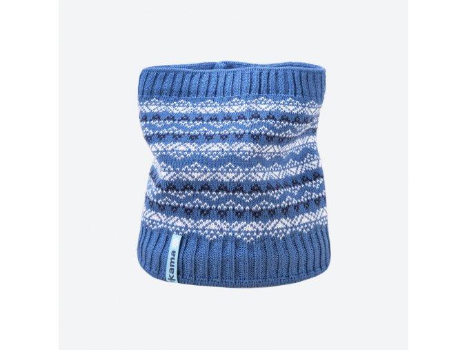 kama sb 11 107 detsky pleteny merino nakrcnik svetle modry
