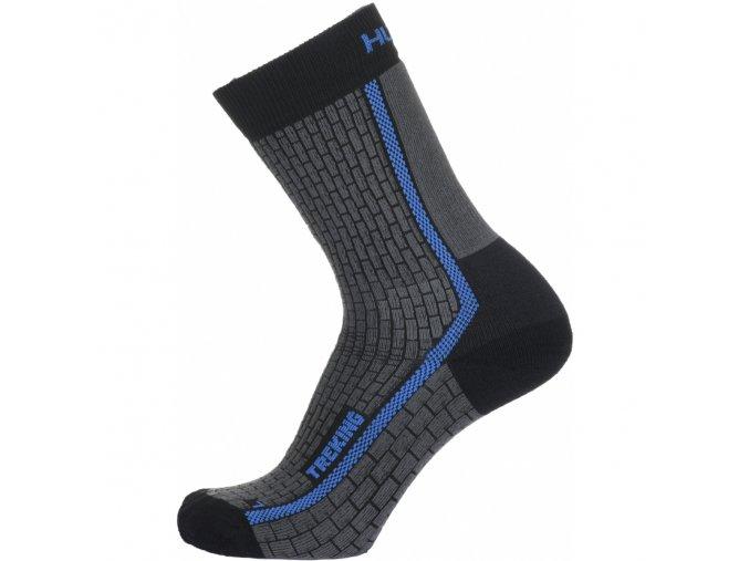 husky treking ponozky antracit modre