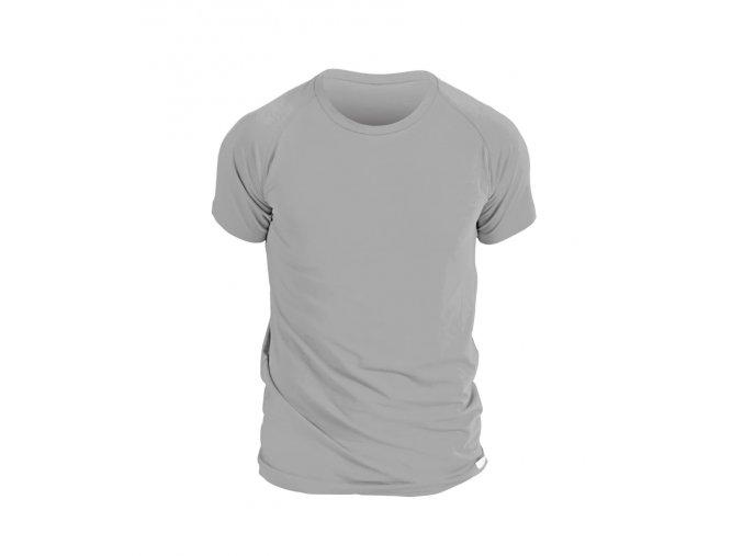 nanosilver panske triko s kratkym rukavem sede