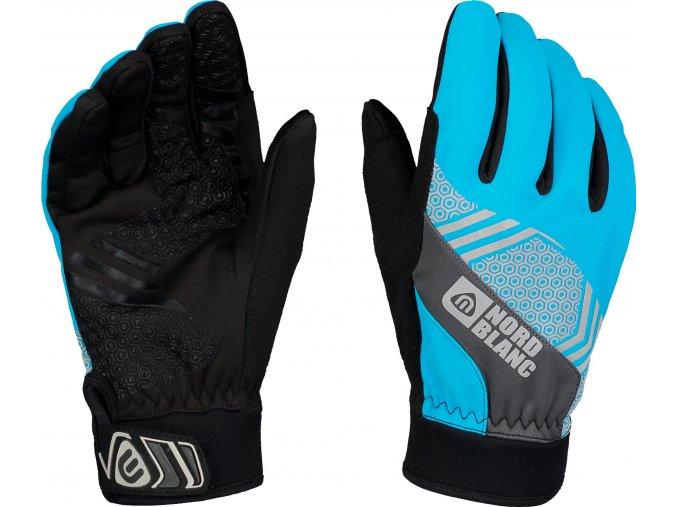 nordblanc poinetr softshellove rukavice svetle modre