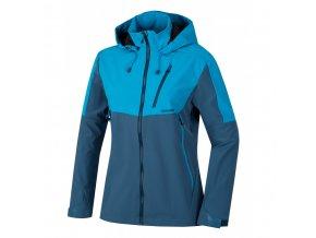 Husky Sauri L dámská softshellová bunda modrá