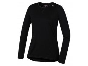 Husky Merino DL dámské termo tričko černé