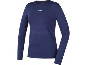 Husky Active winter long dámské termo tričko modré