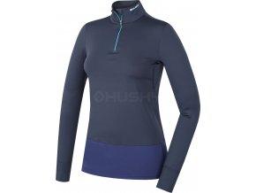 Husky Active winter long zip dámské termo tričko modré