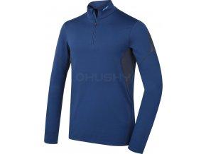 Husky Active winter long zip pánské termo tričko tm.modré