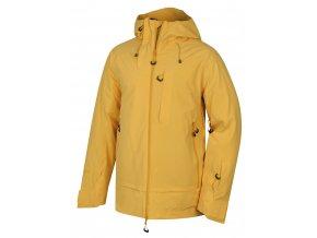 Husky Gombi M pánská lyžařská bunda krémově žlutá