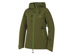 Husky Gombi L dámská lyžařská bunda tmavě olivová