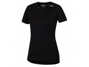 Husky Merino dámské termo tričko krátký rukáv černé