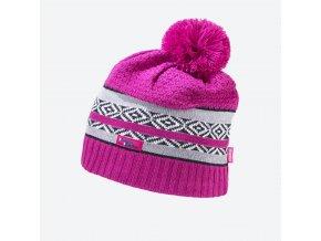 Kama Kamakadze KW 06-114 pletená merino čepice růžová