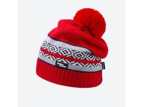 Kama Kamakadze KW 06-104 pletená merino čepice červená