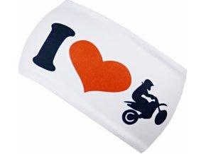 icedress motorbike white sportovni celenka