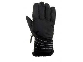 relax icepeak lyzarske rukavice cerno bile