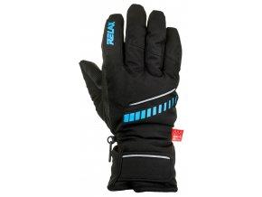 relax down lyzarske rukavice cerno modre