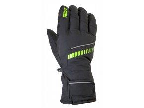relax down lyzarske rukavice cerno zelene