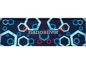 nanosilver-hexa-sportovni-celenka-s-potiskem-cerno-modra