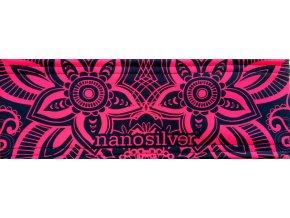 nanosilver-flower-sportovni-celenka-s-potiskem-cerno-cervena