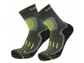 Nanosilver trekingové ponožky se stříbrem šedo/zelené