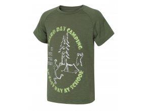 husky-zingl-kids-detske-tricko-tmave-zelene