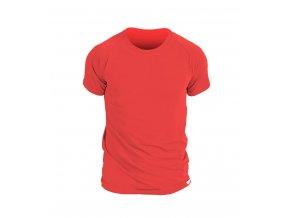 nanosilver panske triko s kratkym rukavem cervene