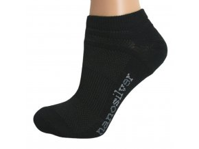 nanosilver kotnikove tenke ponozky cerne