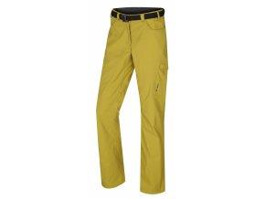 Husky Kahula dámské outdoorové kalhoty žlutozelené