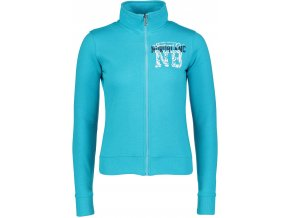 nordblanc level damska mikina svetle modra
