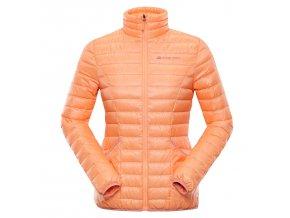 alpine pro fira damska perova bunda oranzova