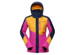 alpine pro sardara 4 damska zimni bunda ruzova oranzova