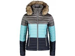 nordblanc bar damska zimni bunda modro seda