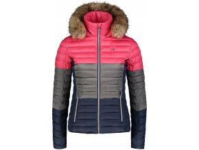 nordblanc bar damska zimni bunda sedo ruzova