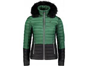 nordblanc bar damska zimni bunda cerno zelena