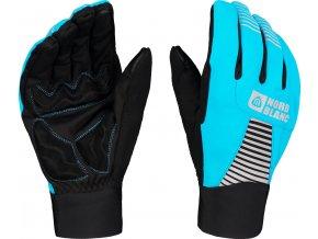 nordblanc grab softshellove rukavice svetle modre