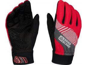 Nordblanc Poinetr softshellové rukavice červené