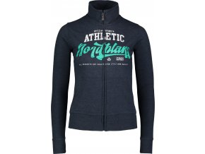 nordblanc athletes damska mikina tmave modra