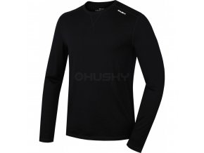 Husky Merino pánské termo tričko černé